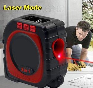 Gamma Distanza modalità Laser Finder di misura del profilo del tester del calibro nastro Cord Strumento Strumento digitale 3-in-1 multi-funzione a infrarossi FgCPd Misura