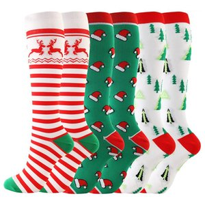 Printed Mulit Style Christmas Pattern Knee Stockings Casual Male Stockings Mens Designer Sport Style Socks Colorful