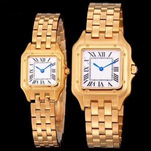 Alta qualidade assistir Casal Homens Mulheres de aço inoxidável da cor do ouro branco Dial Designer relógios de quartzo Movimento do Amor Prenda, Vestido relógio de pulso