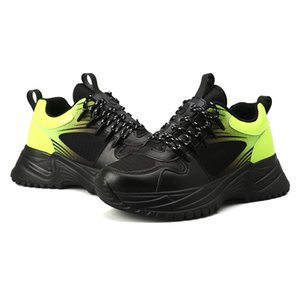 Run Luxo Tripler Fashoin Longe pulso Triple S dos homens do desenhista Oxford Futebol Tênis Rubber Platform instrutor de couro Casual Sneakers CS02