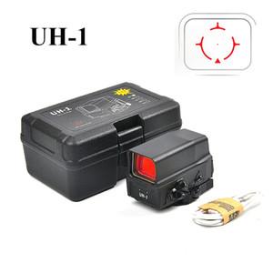 UH1 Red Dot vista del alcance de la vista refleja holográfica caza de la vista Scopes con USB cargo por 20 mm Monte
