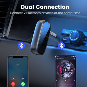 Freeshipping Bluetooth Receiver 5.0 aptX LL 3.5mm AUX Jack Audio Wireless Adapter for Car PC Headphones Mic 3.5 Bluetooth 5.0 Receptor