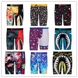 Mens Underwears Boxers Men Swimwear Summer Beach SHorts quick dry Shark print sand sports shorts underwear beachwear Swimming boxer D72707