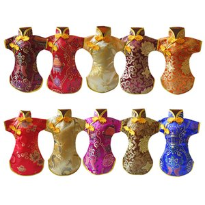 Tang Dress Decorative Party Embroidery Chinese Style Non Slip Wine Bottle Cover