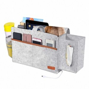 Non Slip Dormitory Home Sofa Desk Bedside Bunk Space Saving Bed Organizer Felt Hanging Storage Bag Large Capacity For Phone 0LfC#