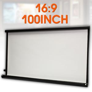 고휘도 접이식 100 인치 HD 화면 캔버스 16 : 9 프로젝터 홈 시어터 비머 프로젝션 스크린 영화 프로젝터