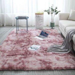 Assorbimento tappeto rosa Tie Dyeing peluche moderna morbido rettangolo tappeto Fluffy Tappeti Anti-Skid Shaggy Tappeti Area Camera Acqua