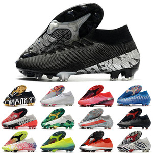 2020 Mercurial Superfly Chaussures de soccer 360 Elite FG VII 7 13 SE Ronaldo CR7 chuteiras Hommes Femmes Garçons enfants Chaussures de football Crampons US3-11