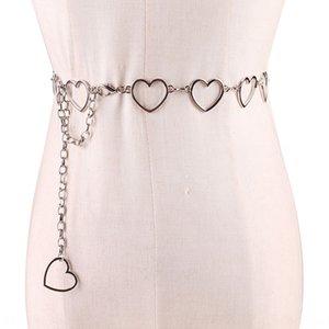 Модная женская тонкой металлической цепи талии просто все соответствует Мода пояса Nv ши Dai сердца сердца декоративный пояс
