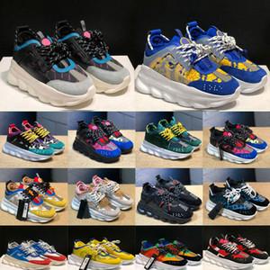 2020 Новая мода нового прибытия обувь цепь женщин Mens Chaussures спортивной обуви тренер Легкий вес Link рельефной подошвой с наружной