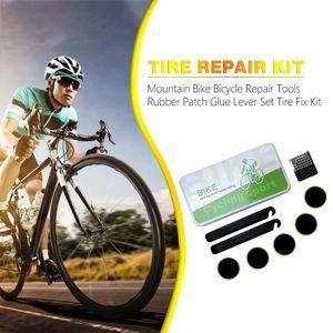 Mountain Bike Bicycle Repair Tools Rubber Patch Glue Lever Set Tire Fix Kit Car Tire Repair Tool Kit Studding Tool