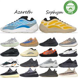 Azareth Srphym Bleu Avoine 380 Alien Reflective Kanye west femmes hommes chaussures de course Azaël Alva 700 Utilitaire Noir V3 MNVN Hommes Chaussures de sport