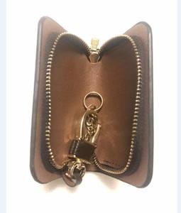 HOYOBISH PU cuir grande capacité Porte-clés Organisateur clés Sac Zipper Wallet Keychain voiture pour Gouvernante