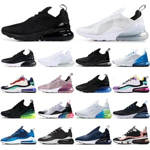 Nike Air Max 270 270s Parra Hot Punch Photo Scarpe da ginnastica da uomo blu per allenatori Scarpe da corsa da donna Triple White University Red Olive Habanero Flair Fashion 36-45