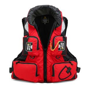 Outdoor Men Women Fishing Life Vest Breathable Safety Multi Pocket Waistcoat Boating Swimming Buoyancy Life Jacket Tactical Vest