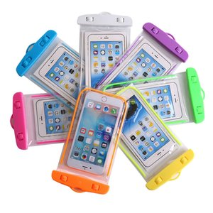 caso del PVC de protección del teléfono móvil de la bolsa del bolso bolsa impermeable noctilucent para el buceo deportivo de natación para el iphone 6 7/6 7 más S 6 7 7 NOTA