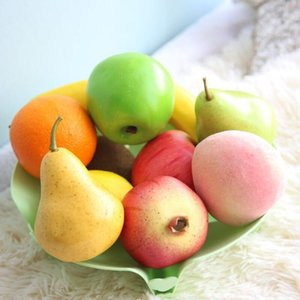 Canlı Köpük Baloncuk Yapay Sahte Gerçeğe yakın Meyveler Elma Şeftali Armut Muz Düğün Dekorasyon Dekoratif DIY Parti Ev Süsler OWF926