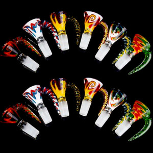 Nouveau bol 18mm 14mm Homme verre Boules de couleur fumeurs Bong Bowls Piece Smoking Accessoires Bol unique pour le tabac en verre Les conduites d'eau Bongs