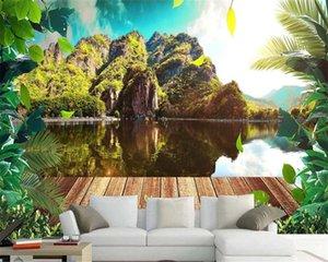 3d Mural обои HD красивый пейзаж пейзаж и свежий европейский фон стена Романтический пейзаж Декоративные Mural обои