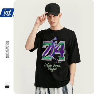 INFLATION Men T shirt With Basketball Star Printing Regular Fit Men T shirt Loose Fit 100% Cotton Hip Hop Men Tshirt 1010S20 0921