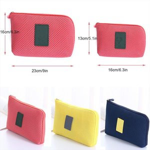 1PC Portable Travel Earphone Cable USB Digital Gadget Organizer Storage Makeup Bag Cosmetic Cases Pouches Toiletry Bags