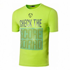 Esporte camiseta T-shirt T-shirt Correndo Workout dos homens jeansian Gym Fitness Moda manga curta LSL198 GreenYellow2 j0L5 #