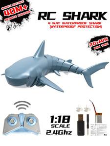 2.4G Altamente simulação simulado Remoto USB Controle tubarão Barquinho de carregamento para Piscina Banho engraçado Toy elétrica RC animal