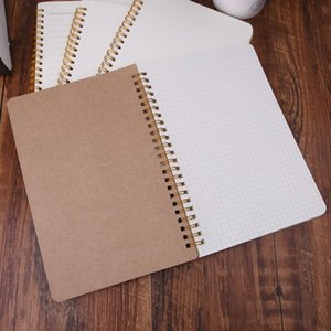 A5 Notebook Kraft Dot Grid Time Management Blank Book Spiral Journal Weekly Planner School Office Supplies