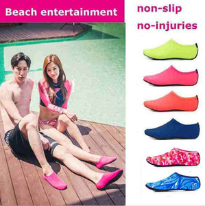 Beach Water Sports Scuba Diving Socks 5 Colors Swimming Snorkeling Non-slip Seaside Beach Shoes Breathable Surfing Socks Sand Play FY420