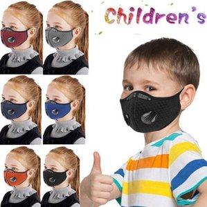 Rosto Sports Mask Crianças Outdoor Sports Dust-proof respirável lavável Protective Ciclismo ativado Máscara EEA1913 Carbono Bicicleta