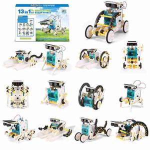 13 في تجميعها الذاتي 1 DIY الشمسية روبوت لعبة DIY العلوم الشمسية روبوت لعبة اللغز الجمعية روبوت الشمسية كيت الأطفال ألعاب تعليمية