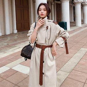 yl6w0 шик средней длины весной 2020 пальто ветровка весной и осенью популярны пальто женщин ветровка женская одежда Корейский British