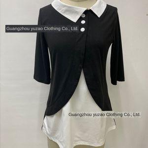 Super ma I Tong Ya ma Xun all-jogo de sete trimestre contraste manga de cor lapela camisa pullover 233 pulôver das mulheres irregulares