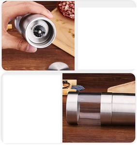 Biber Değirmeni Öğütücü Paslanmaz Çelik Manuel Tuz Taşınabilir Mutfak Değirmen Muller Baharat Sos Öğütücü Pepper Mill Ev Mutfak Aracı FFA4331-5
