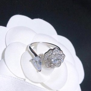 The opening of the new fashion ring is a high-grade diamond ring