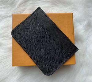 Alta qualidade homens mulheres titular de cartão de crédito clássico mini banco titular pequeno slim carteira wtih caixa