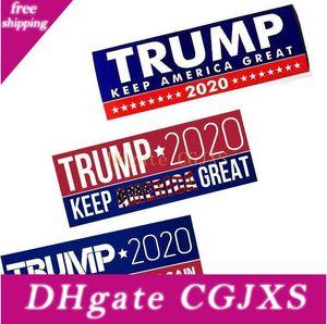 5 Styles Donald Trump 2020 Élection présidentielle américaine Trump Auto-tamponneuse autocollants pour voiture Autocollants voiture Grands autocollants garder l'Amérique 23 * 7 .6cm Dhl