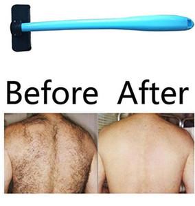Erkekler Manuel Geri Tıraş Makinesi Saç Çıkarıcı Plastik Uzun Sap Tıraş Geri Saç Tıraş Razor Evantek Vücut Bakım Seti Lxl372