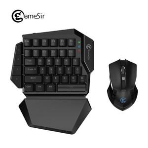 Cgjxs [Nuovo] Gamesir Z2 E -Sports di gioco wireless tastiera e mouse Gm180 Combo 2 .4ghz One-handed Blu Interruttore Tastiera Per Fps Pubg Giochi T1