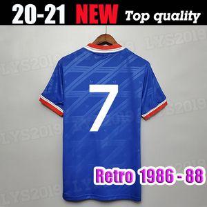 1986 1987 1988 футбол Джерси MAN UTD Майо 86 87 88 прочь синего США ретро футбола рубашка Классического манчестера Урожай Camiseta Futbol