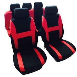 Winsun 12PCS Общие Времена года 5 мест Автокресло Обложки Set Красный Черный