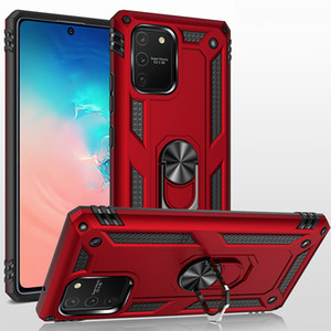 Bague des doigts pour Samsung A91 Case pour Samsung Galaxy A91 A81 S20 Note 20 Ultra S10 10 Lite Plus M60S M80S Magnétique Support de voiture Magnétique Cas d'armure