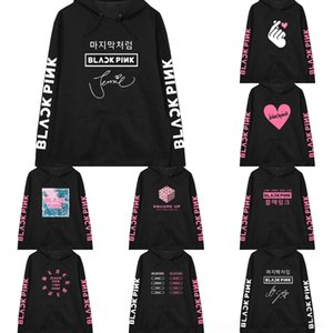fHzmT noir style étoile rose Jin Zhixiu même style BlackPink album Sweater album photo même support autour