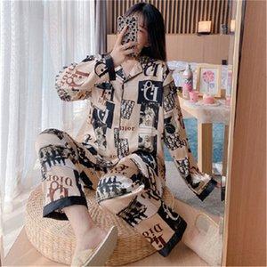 BZEL زوجين بيجامة الحرير الحرير Pijamas كم طويل زهرة مطبوعة ملابس له ولها البدلة الرئيسية بيجامة لمحبي رجل امرأة عشاق الكلور # 164