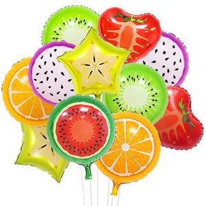 Forma fruta de la manera de la hoja Globo piña sandía hielo fiesta de cumpleaños Globos Donut Crema de Ducha del bebé Decoración GWD1963