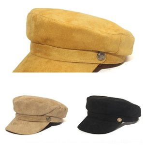 süet ve Kış yeni kadın Donanma tüm maç sekizgen şapka üst seviye Sivri İngiliz doruğa beret Sonbahar beret kap sekizgen kap IyfyO