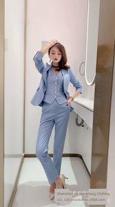 4q6tp Gnrq7 Heißer Verkauf 20 Herbst Damenbekleidung New ol Professional + Weste + Stil Hosen Bleistift Bleistift Pants Anzug Western Sui Business Drei-