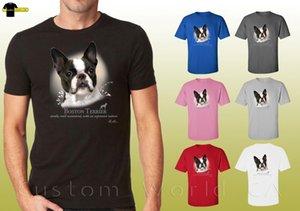 boston terrier graphic shirts dogs boston terrier design unisex t-shirt cartoon t shirt men unisex new fashion tshirt