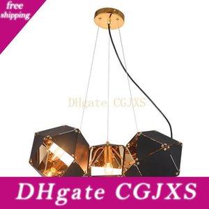 Modern Led Luces pendientes Dna Negro Colgando de iluminación accesorios de cocina Hanglamp Foyer Avize comedor Habitación Suspensión Luminaria