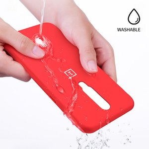 Caso Original OnePlus 6T Caso Moda estado líquido silicone suave TPU Multicolor completa OnePlus Proteger 6t caso capa Voltar